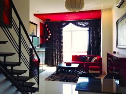 Yellow Black And Red Living Room Ideas by Living Room Beautiful High Ceiling Living Room With Black Floral