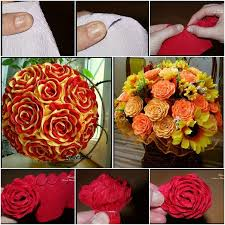 How To Make A Paper Rose Flower Bouquet