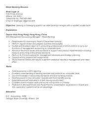 Private Banker Resume Sample Retail Banking Samples For Fields Related To Head Project Man Example Operations Manager
