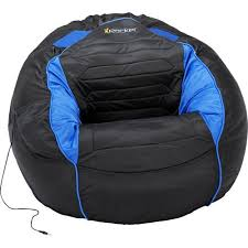 Kahuna Sound Child Gaming Chair Bean Bag Black And Blue