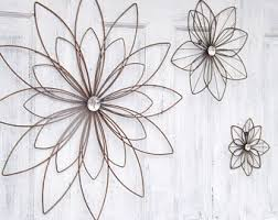 Metal Flower Wall Decor 9 Large Art Bedroom Gallery