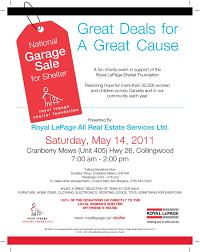 Live Play Georgian Bay Royal LePage Annual Charity Garage Sale