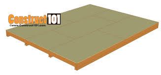 12x16 shed plans gable design construct101