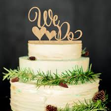 Rustic Woodland Wedding Decoration Cake Toppers WE Heart DO Aspen Wood Anniversary Topper