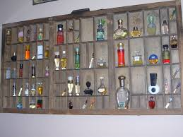 Miniature Perfume Bottles In Printers Drawer California Job Case Great Idea Antique Store DisplaysAntique