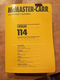 McMaster Carr Catalog 114 Books Magazines In Oakley CA