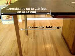 Enlarge Your Dining Room Table With Or Without Supporting Legs