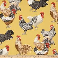 Amazon Rooster Kitchen Curtains by 15 Best Rooster Fabric Images On Pinterest Accent Colors Farms