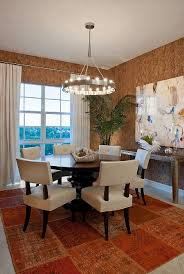 Unique Wallpaper Brings The Texture Of Cork To Dining Room Design Garrison Hullinger