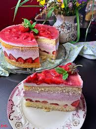 käsesahne torte mit erdbeeren fruchtig lecker erfrischend