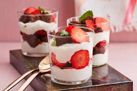 erdbeer bananen schoko trifle thermomix rezept