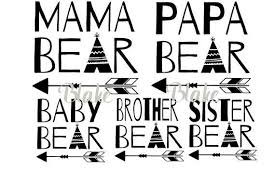 Bear Family Svg Mama Papa
