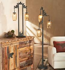 Floor Lamp With Glass Table Attached by Rustic Lamps U0026 Cabin Lighting Black Forest Décor