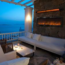 Nova Indoor Outdoor Electric Fireplace Black Stainless Steel