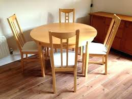 Dining Table 6 Chairs Ikea Set Extendable Birch Veneer And Round Extending