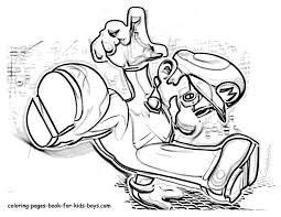 Mario Coloring Pages Color Printing Printable Book