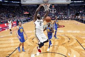 New Orleans Pelicans Center DeMarcus Cousins 0 Dunks In Front Of Golden State Warriors