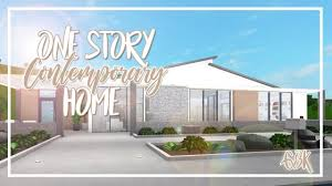 100 Modern One Story House Welcome To Bloxburg 68k Contemporary Home