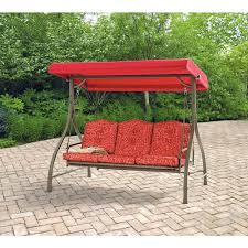 Patio Swings With Canopy by Mainstays Warner Heights Converting Outdoor Swing Hammock Red