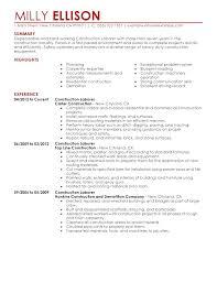 laborer resume objective construction laborer resume general