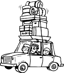 Summer Car Travel Coloring Page