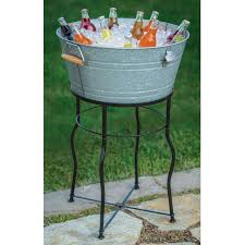Sams Club Folding Table And Chairs by Galvanized Chill Tub Set With Flared Leg Stand Sam U0027s Club