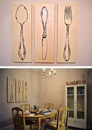 Wood Fork And Spoon Wall Hanging by 3 Piece Monochromatic Spoon Also Fork Wall Art For Dining Room And