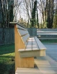 video bench built inside railing deck ideas pinterest