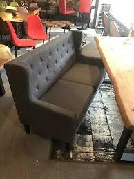 küchen sofa esszimmerbank 3sitzer grau chesterfield style