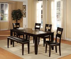 Dining Table With Bench Back Area Rugs Wall Sconces Candle Room Benches Curtains And Window Treatments Wrought Iron Distressed Buffet Sideboard Mounted