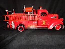 100 Toy Big Trucks Vintage S Fire Truck 1941 Mack Tin Volunteer Engine Number 7