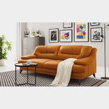fredriks sofa lutz ii 3 sitzer goldbraun echtleder 220x87x100