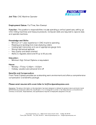 Cnc Machine Operator Sample Resume Samples Rh Nickverstappen Com Maintenance
