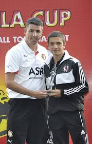 Roy Makaay Awards One Of The Best Young Footballers From Beshiktas At Qabala Cup Tournament