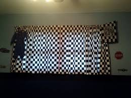 imposing decoration checkered flag curtains majestic checkerboard