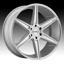 100 Custom Rims For Trucks KMC KM712 Prism Truck Silver With Brushed Face Wheels