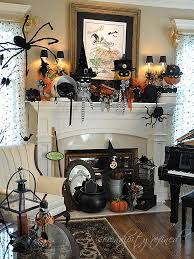 Halloween Fireplace Mantel Scarf by 40 Spooktacular Halloween Mantel Decorating Ideas