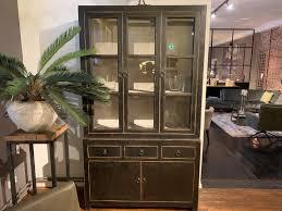 de pagter schwarze vitrine 50 129 225 cm