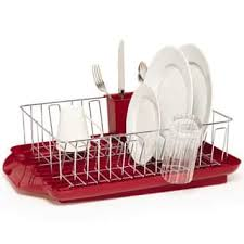 Farberware Professional Red 3 Piece Dish Rack Set