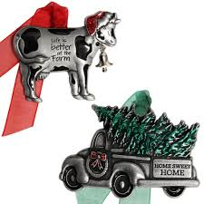 100 Cow Truck Gloria Duchin Christmas And Country Ornament Set7320