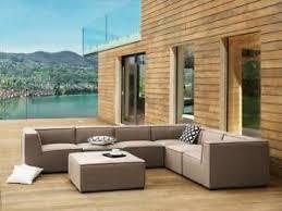 details zu designer lounge gartenmöbel sofa sitzgruppe beige terrasse wohnzimmer