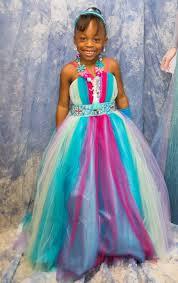 rainbow pageant dress