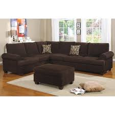 Poundex Reversible Sectional Sofa by Poundex Bobkona Winden 3 Piece Reversible Sectional Sofa In