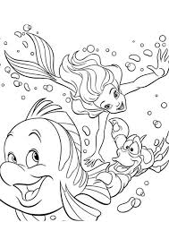 Ariel Disney Coloring Pages For Kids