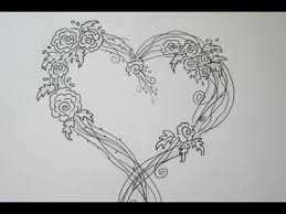 Drawn Rose Fancy Heart 8