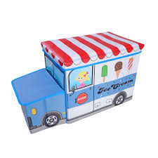 100 Toy Ice Cream Truck Box Storage Kids Chest Organizer Furniture Bedroom Playroom