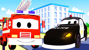 100 Fire Truck Cartoon The Car Patrol Compilation Fire Truck And Police Car In Car City