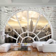 details zu vlies fototapete steinwand new york 3d effekt tapete wandbilder wohnzimmer 3