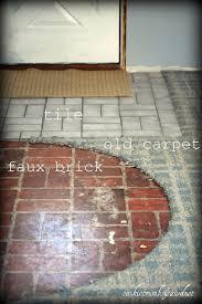 cookie crumbs sawdust faux brick flooring