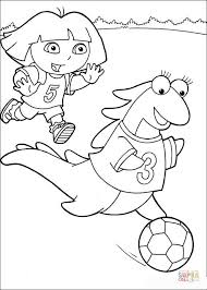 Click The Dora And Isa Playing Soccer Coloring Pages